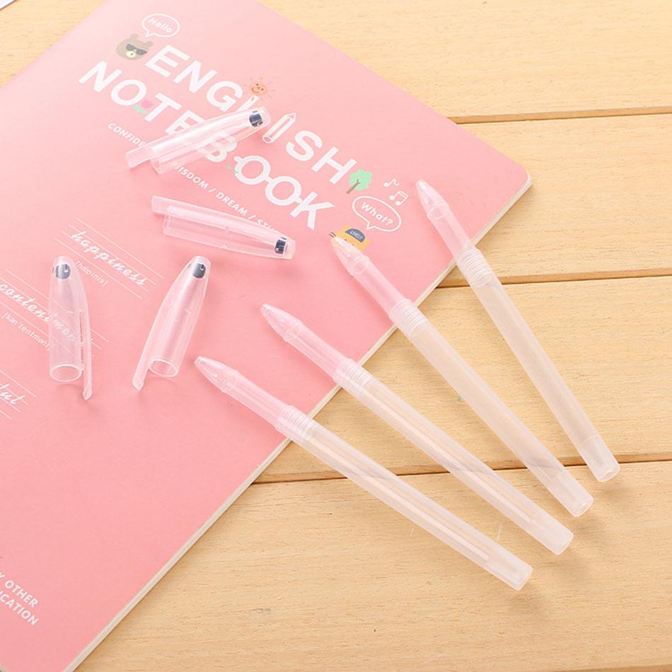 20Pcs/Lot (No ink)New Gel Pen Shell Casing Transparent Ballpoint Cap Minimalist Cheapest Cover