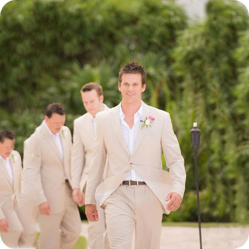 الصيف الكتان الرجال الدعاوى ل بدل زفاف العريس ارتداء العريس سليم صالح عادية البدلات أفضل رجل السترة قطعتين (سترة السراويل)