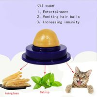 Cat Solid Nutrition Energy Ball Long-Term Consumption Effect Cat Mint Sugar Snacks Ball with Sucker Cat Licking Ball Cat Toy Hot