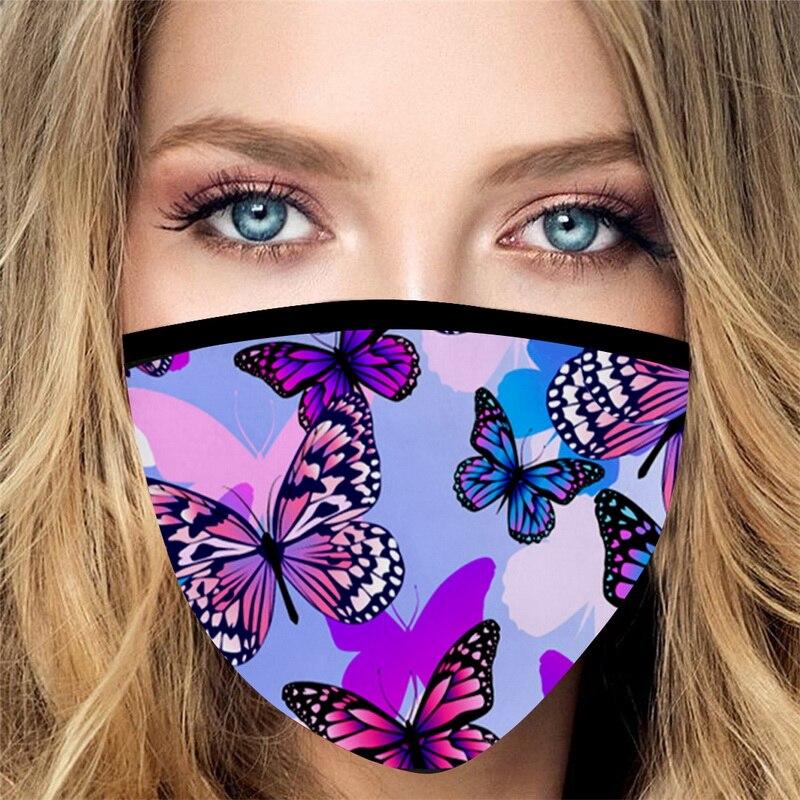 10 шт ткань для лица для женщин печать моющаяся ветрозащитная защита для рта Пылезащитная петля для езды на велосипеде