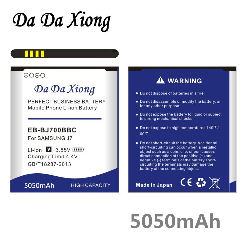 Da Da EB-BJ700BBC EB-BJ700CBE Xiong 5050mAh Bateria para Samsung GALAXY J7 J7008 J700F SM-J7008 J7000 J700 ON7 G6000