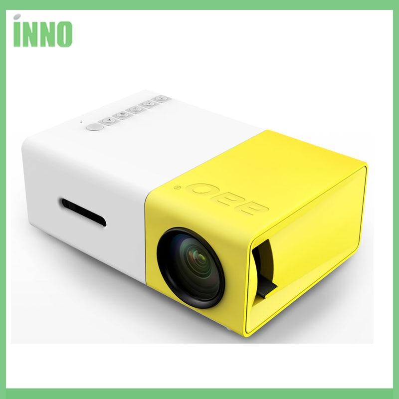Y300 led portátil projetor 500lm 3.5mm 320x240 pixel hdmi usb mini projetor casa media player