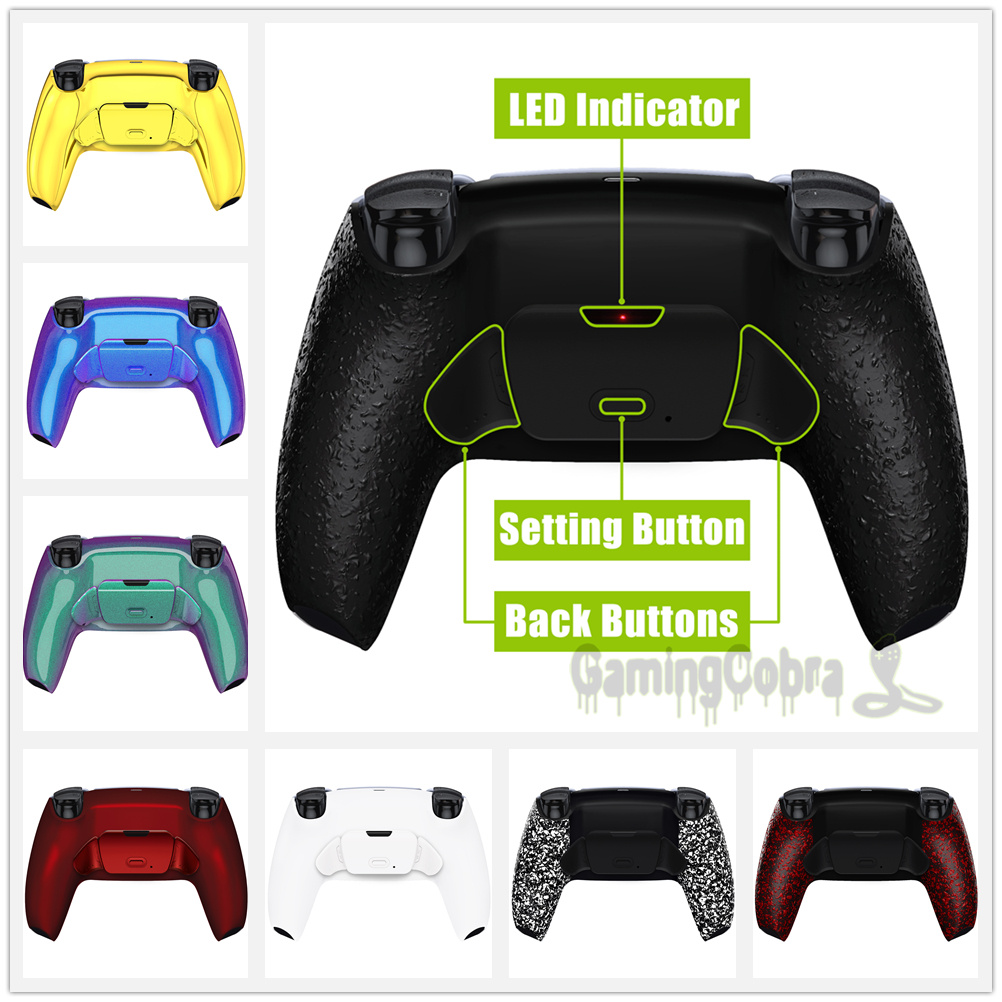 eXtremeRate Programable Rise Remap Kit, Upgrade Board & Redesigned Back Shell & Back Button for PS5 Controller BDM-010
