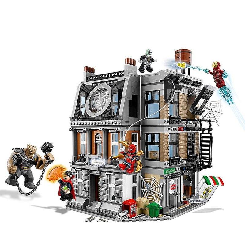 Marvel, vengadores Infinity War, Sanctum Sanctorum, Showdown, Iron Man, Spidermans, juguetes de bloques de construcción compatibles con Lepinblock, 10840