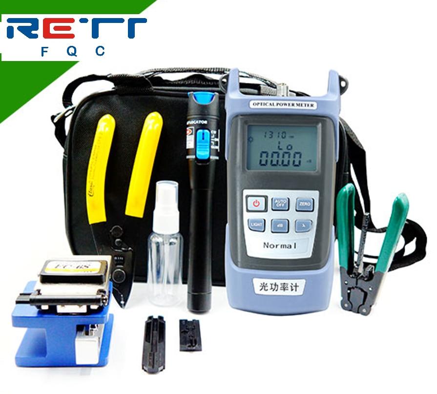 Fiber Optic Tool Kit FTTH tools with Fiber Fibra Optica Power Meter and 5mW Visual Fault Locator FC-6S FTTH tool