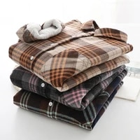 women tops and blouses plaid shirt cotton thickening velvet oversize clothes jacket shirts long sleeve womens shirts autumn