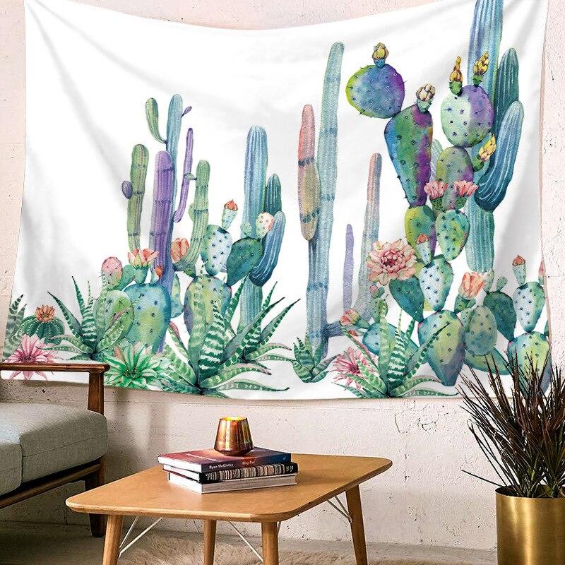 Cactus tapiz pared colgante verde Pared de plantas tapicería Bohemia papel pintado con paisaje Arte de la pared Decoración 230, 200, 150, 100