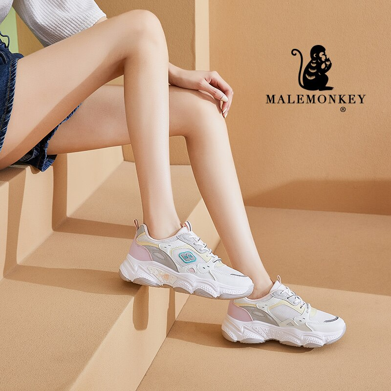Platform Sneakers Women Casual Shoes 2021 Autumn Outdoor Non-slip Lace Up Chunky Sneakers Comfortabl