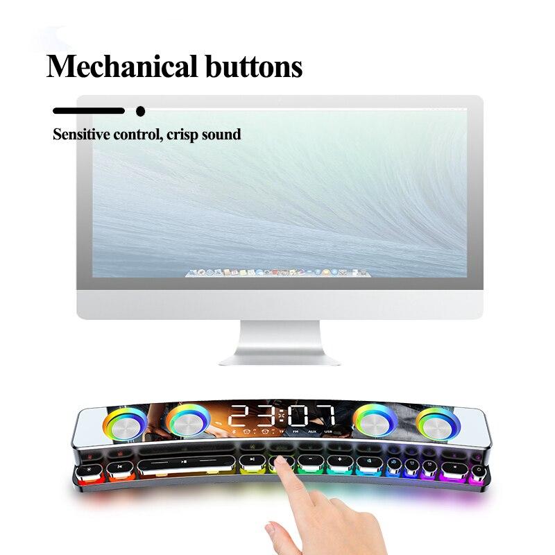 New 3600mAh Bluetooth Wireless Game Speaker soundbar USB 3D Stereo Subwoofer Home Clock Indoor Sound Bar Computer Loudspeaker enlarge