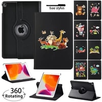 for ipad 5678thipad mini 45 ipad 234 360 degrees rotating pu leather stand tablet cover case shockproof protective shell