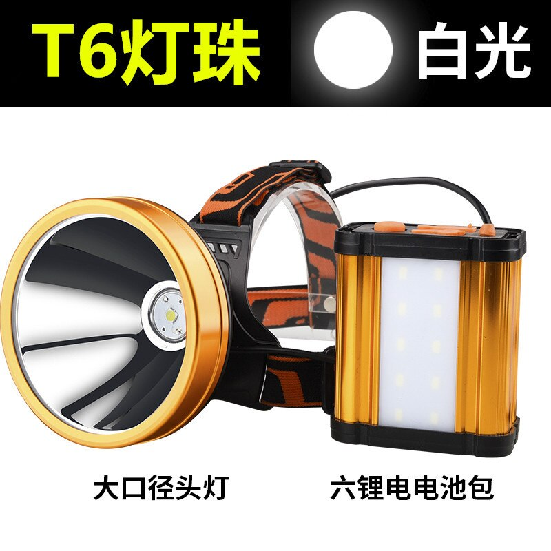 Waterproof Powerful Headlamp Fishing Hiking Climbing Searchlight Hunting Headlamp Rechargeable Hoofdlamp Outdoor Lighting DE50TD enlarge