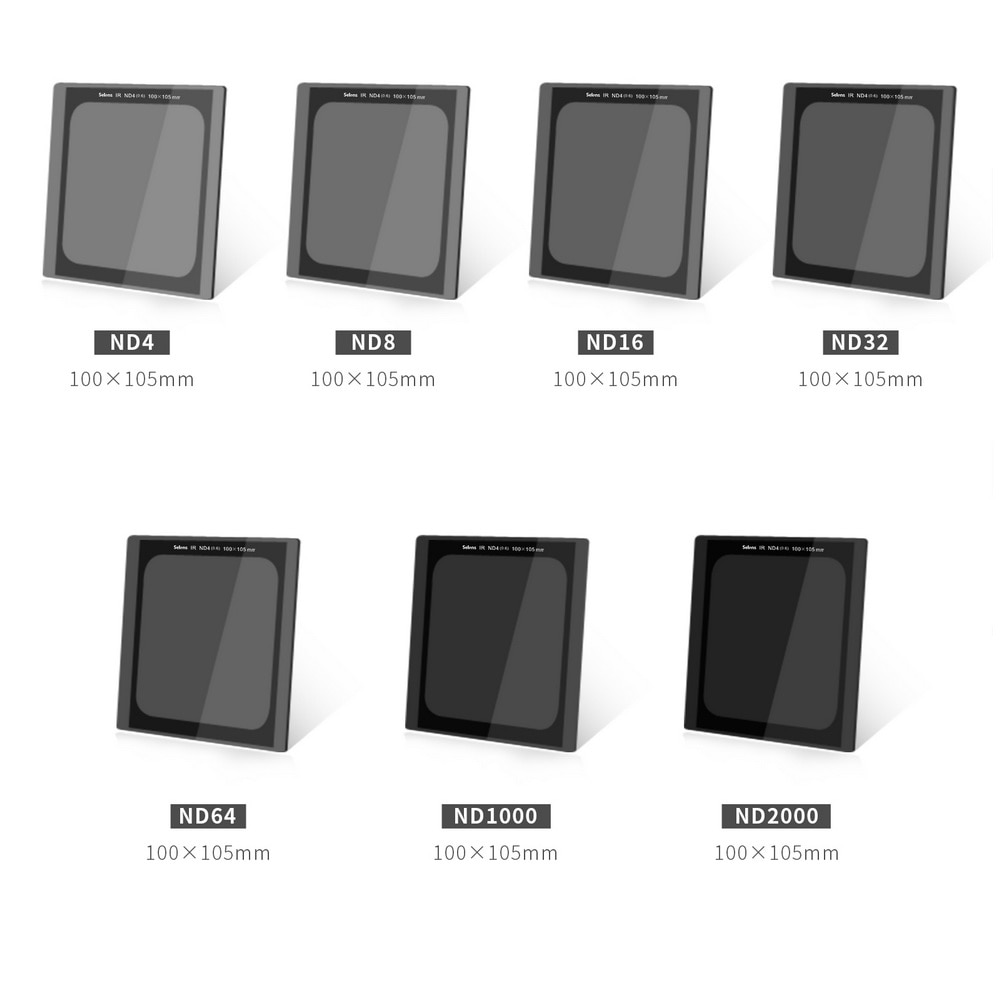 100X150mm GND32 16 8 4 100*105 ND2000 1000 64 32 تخرج محايد الكثافة عكس ND غراد مربع مرشحات طلاء نانو البصرية