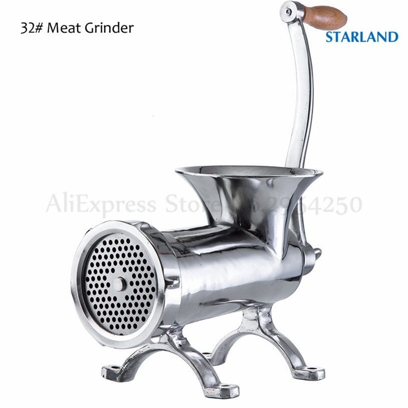 32 tipos de trituradora de carne Manual de alta resistencia máquina de picar salchichas Mesa herramienta de manivela pollo pato peces cortador Máquina Manual