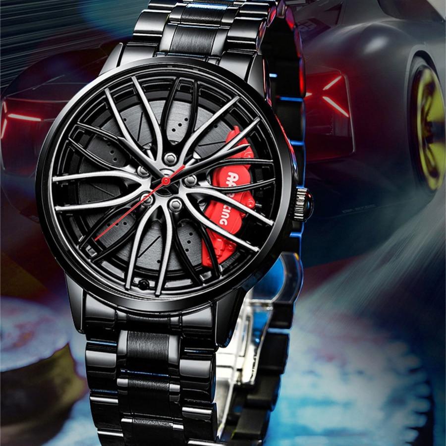 Повседневные мужские часы, уникальные наручные часы с колесами ступицы автомобиля, мужские Модные наручные часы, мужские часы, Прямая поста...