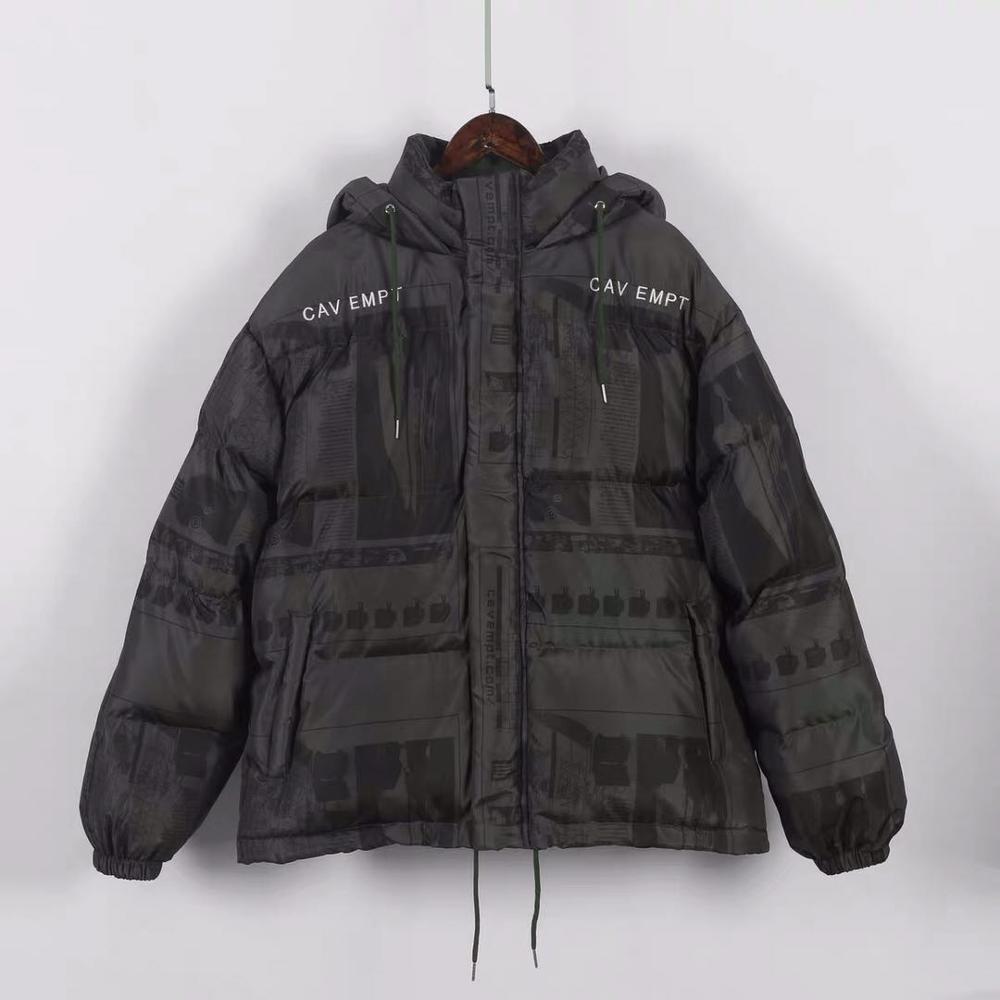 CAV EMPT C.E Down Jacket  Japan Trend LIFE PUFFER Parkas Men Women1:1High Quality 19AW Geometric Print CAVEMPT Hoodies Outerwear