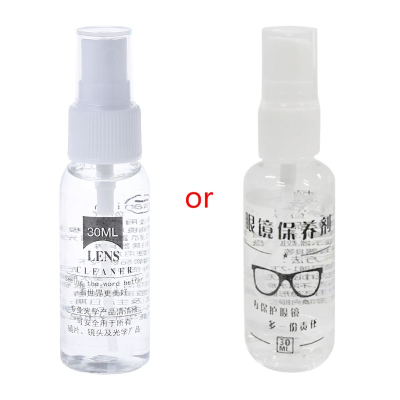 30ml Glasses Lens Cleaner Spray Anti Fog Agent Anti Misting Mirror Sunglasses Screen Cleaning Phone