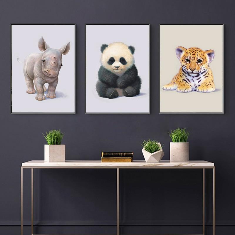 5D DIY Cartoon Panda Koala Dog Cow Milk Frog Owl Tiger Diamond Painting Cute Animal Mosaic Cross Stitch Art Home Decor