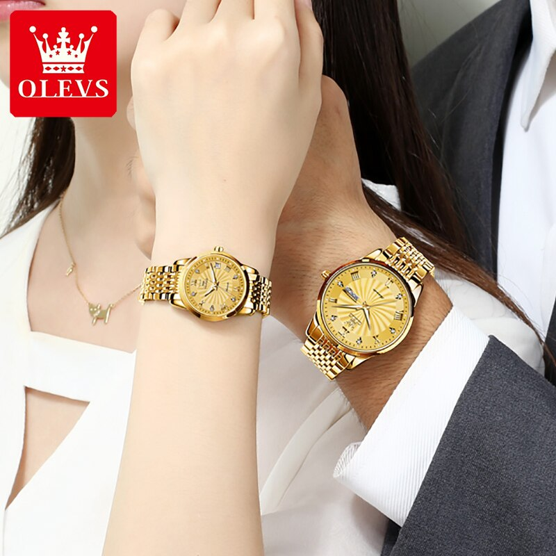 Amant Montres Lover Watches Automatic Mechanical Couples Watch Men Women Reloj Pareja Gold Stainless