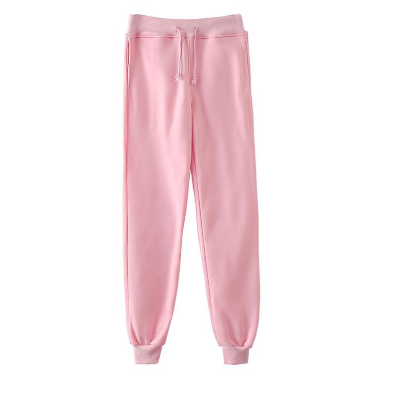 Pantalones rosa para hombre Casual jogging pantalones de cinta holgados Harajuku Streetwear Unisex Hip Hop Sweatpants elástico Multicolor pantalón 4XL