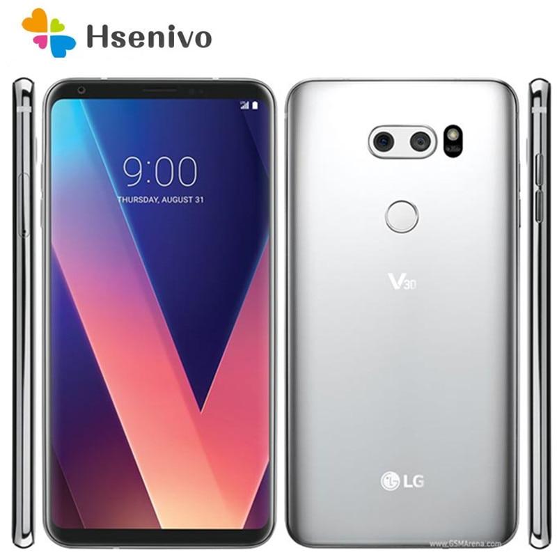 LG V30 H930 64GB مجدد-الأصلي H930 النسخة الأوروبية بطاقة Sim واحدة مقفلة هاتف محمول كاميرا 13MP الهاتف الذكي