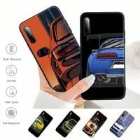 cartoon car tail light jdm black silicone mobile phone case for samsung j4 j6 j5 j7 2016 note 5 8 9 10 lite plus 20 ultra cover