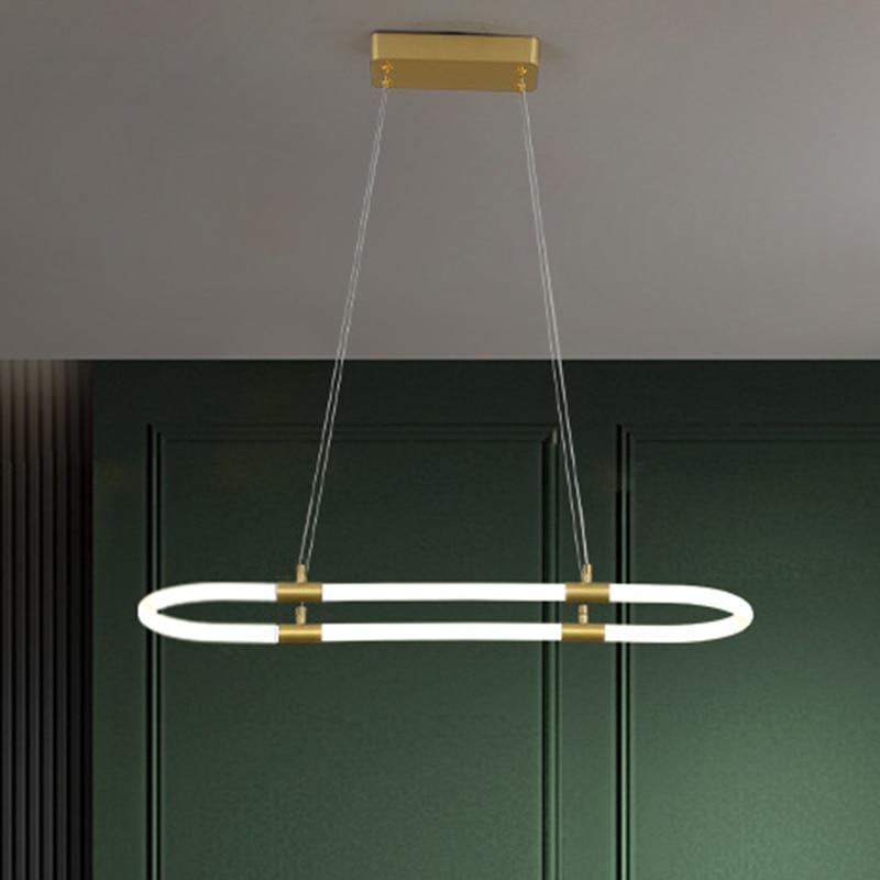 Люстра в скандинавском стиле, креативная современная простая настольная люстра из меди для бара, столовой, светодиодная Подвесная лампа