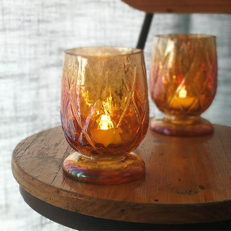 Estilo nórdico candelabro De vidrio Copa moderna adornos De Mesa Centro De...