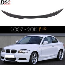 for BMW 1 Series (1st Generation) 2-Door Coupe E82 & 1M Carbon Fiber Rear Trunk Lid Spoiler Car Wing