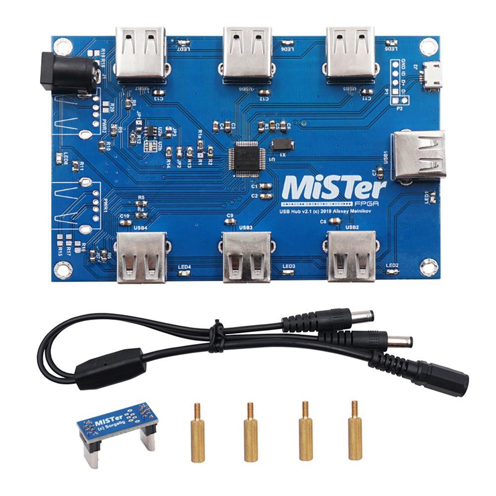 MisTer-USB Hub v2.1 ، لحام يدوي ، لوحة لـ MisTer FPGA ، 7 منافذ USB