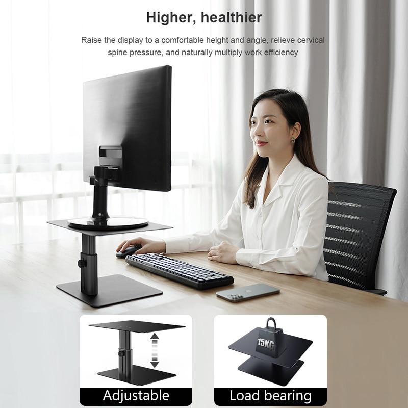 مراقب حامل الناهض المعادن الكمبيوتر العالمي حامل سطح المكتب قابل للتعديل رصد حامل لأجهزة الكمبيوتر المحمول ماك بوك مكتب المنزل