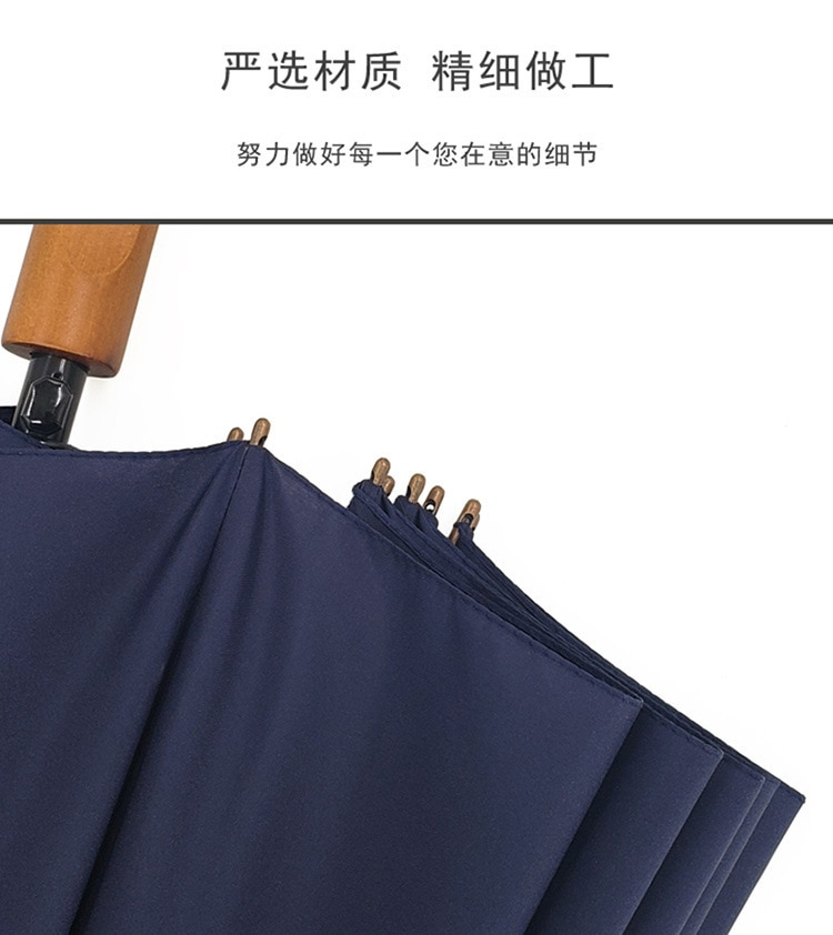 Blue Umbrella Long Handle Outdoor Fashion Large Umbrella Wind Resistant Strong Adult Luxury Paraguas Grande Rain Gear BG50RG enlarge