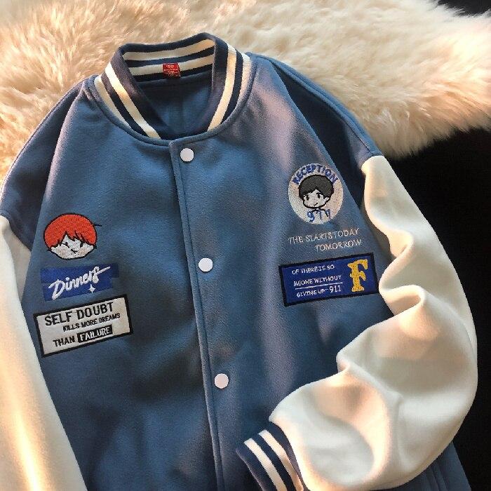 American Baseball Uniform Women's Retro Fashion Brand Coat Spring and Autumn Break