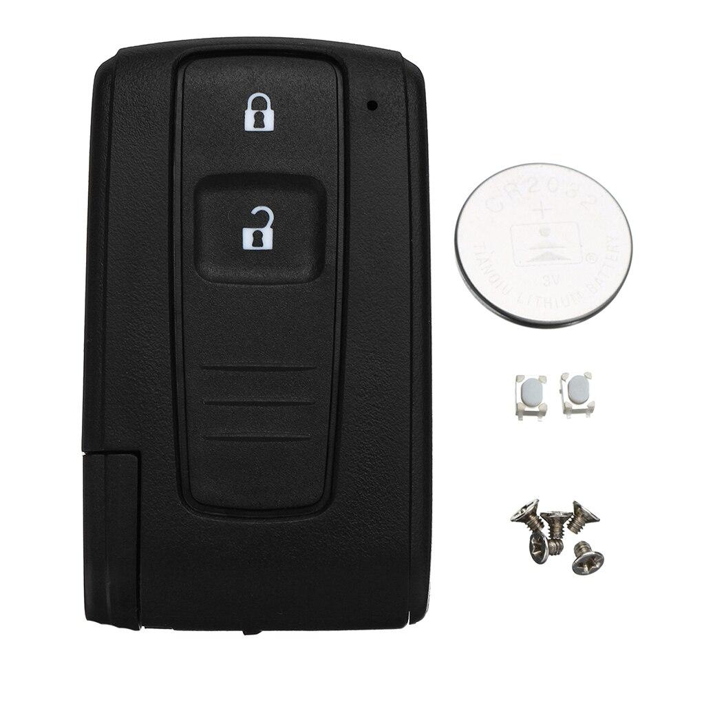 Reemplazo para Toyota Corolla Verso Prius carcasa de llave remota Fob Case Switch Batería 2 botones accesorios de coche