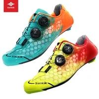 santic carbon fiber men cycling road shoes breathable triathlon zapatillas ciclismo bicycle lock shoes pro mtb road bike shoes