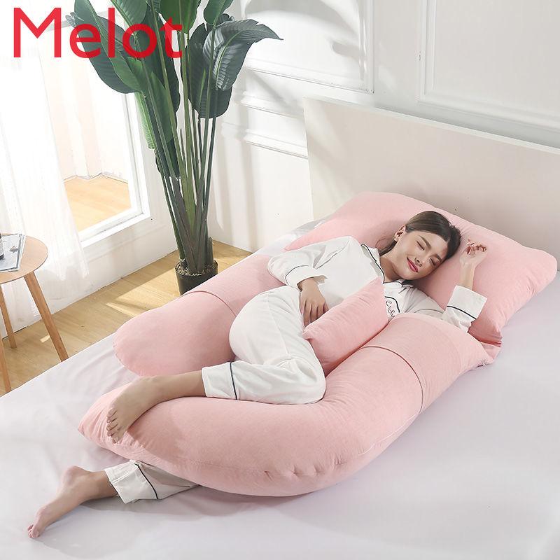 النساء الحوامل وسادة الخصر وسادة داعمة الجانب الكذب البطن وسادة داعمة U-شكل وسادة نوم متعددة الوظائف