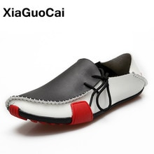 Men Shoes Spring Autumn Driving Casual Shoes Male Leather Shoes Slip On Flats Loafers Moccasins 2021