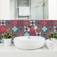 Autocollants muraux en PVC  bande coloree  carreaux de cuisine  salle de bains  escaliers  carreaux de ceramique  decoration papier peint  pelage et baton  affiche murale dart en PVC
