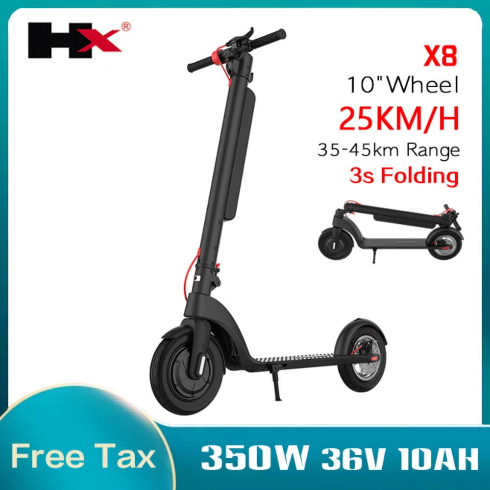 Складной электрический скутер для взрослых, 10-дюймовый колесный балансировочный скейтборд, ступенчатый скутер, Электрический скутер с лит...