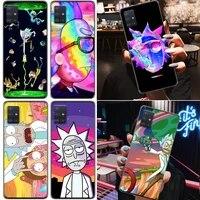 anime morti cute interesting rick cartoon funny phone case for samsung galaxy a71 a51 4g 5g a31 a21 carcasa funda back cover