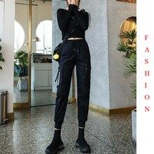 EACHIN mode femmes sarouel décontracté pantalon Cargo en vrac femme taille haute cheville longueur Joggers hiver Streetwear Sport pantalon
