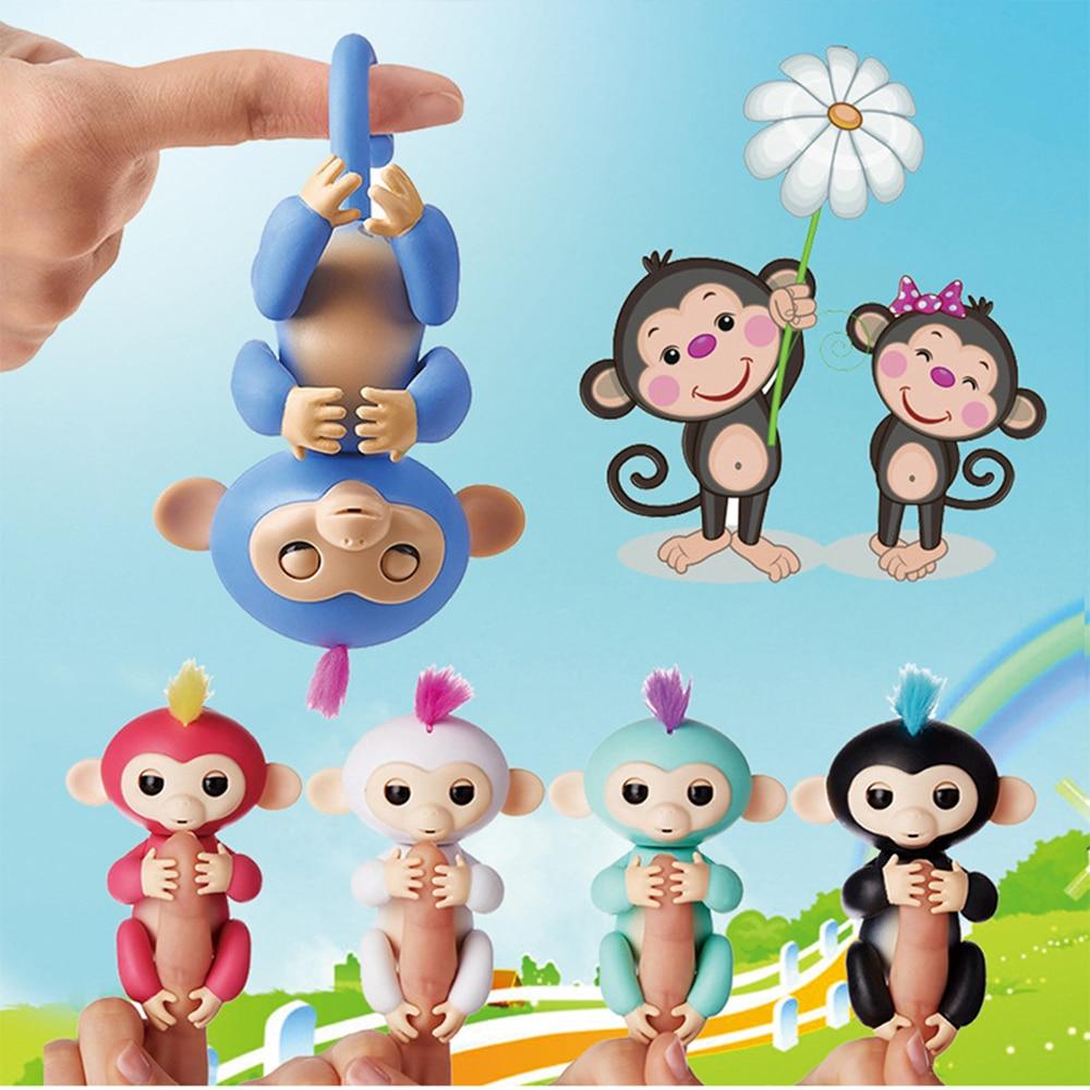 Action Figure Happy Monkey Finger Baby Monkey Electronic Pets Kids Fingertip Monkey Smart Pet Interactive Toy For Children Gift