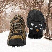 1 paar Anti-slip 8 Zähne Eis Griffe Stollen Schuhe Abdeckung Schnee Eis Klettern Schuh Spikes für Spaziergang auf eis Schnee und Einfrieren Schlamm Boden