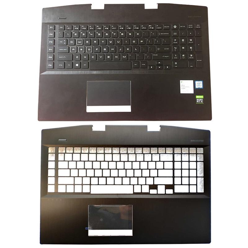 For HP OMEN 17-CB 17-cb0006ng AM2K0000310 AM2K0000320 Laptop Palmrest Upper Case US Backlit Keyboard