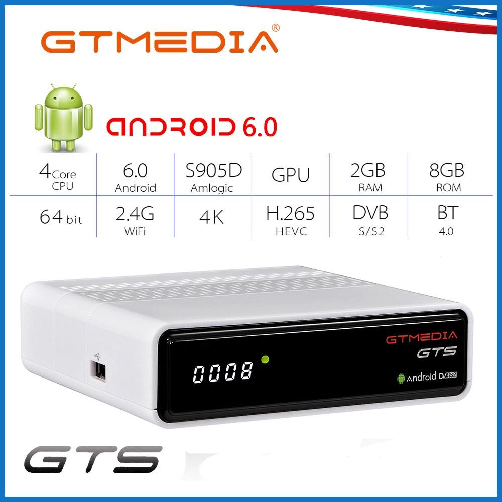 GTMEDIA GTS Smart TV Box Android 6.0 2GB 8GB H.265 4K Wifi Netflix Youtube dekoder Android Box