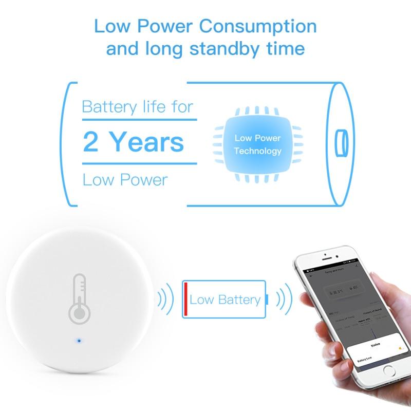 Tuya ZigBee Temperature Humidity Sensor Battery Powered Indoor Controller Hygrometer Works With Alexa Smartlife Google Assistant