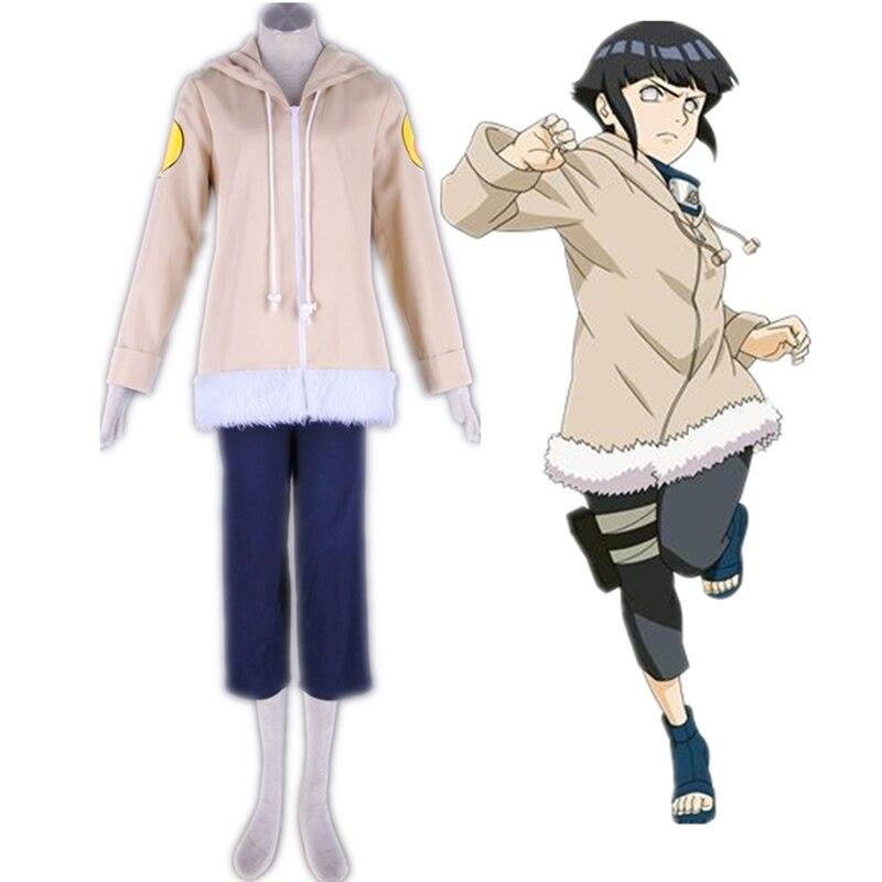 Anime NARUTO Juvenile Hyuga Hinata Costume Cosplay Halloween Party Suit