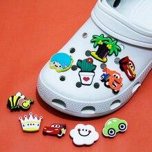 Nuovo 1 pz Cartoon Car Tree Cloud per Charms per scarpe per Croc Jibz fibbia per scarpe PVC ragazzo bambini regalo scarpe accessori decorazione