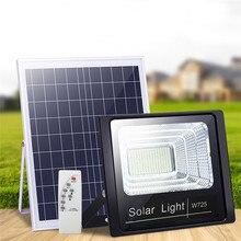 Luz Solar de jardín exterior de 50W con Panel de 3 metros Cable, reflector de jardín, lámpara Solar de pared resistente al agua para iluminación de césped exterior