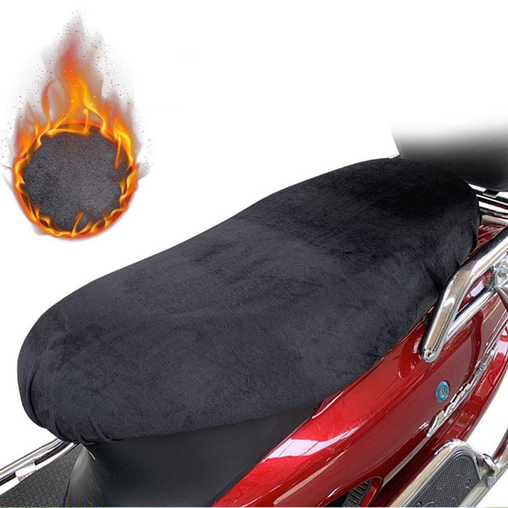 Waterproof Motorcycle Seat Cover Cushion Leather Velvet Dust UV Protector Motorbike Scooter Motorcycle Seat Cushion Cover