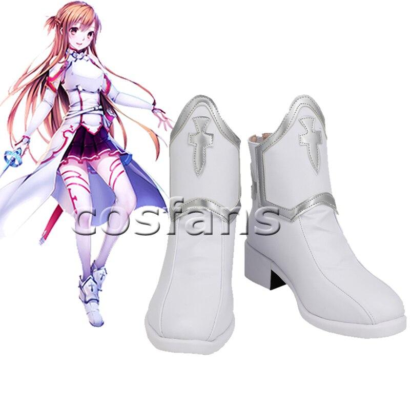 السيف الفن على الانترنت يوكي Asuna تأثيري أحذية النساء ساو أسونا يوكي دور اللعب تأثيري أحذية أنيمي النساء أحذية لعبة حذاء أبيض 2020